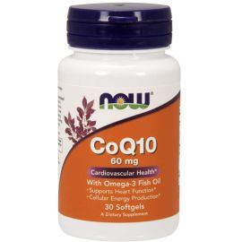 NOW CoQ10 60 mg with Omega 3 Fish Oil